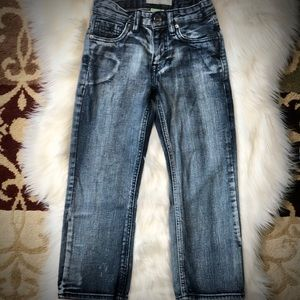 Route 66 Distressed Boys Slim Straight Jeans